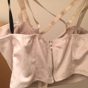Forever 21 Tops - Suade ivory crop top